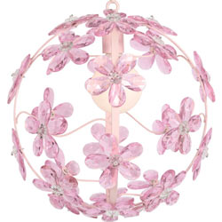 Maura Daniel Crystal Flower Sphere Chandelier