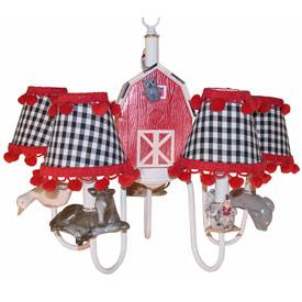 Just Too Cute Farm Animal Chandelier