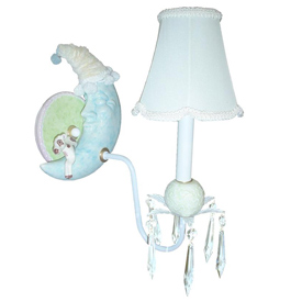 Just Too Cute Moon and Star Wall Sconce