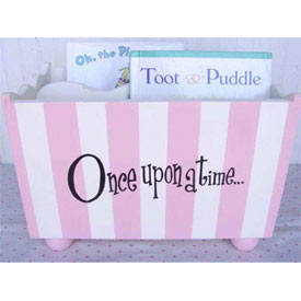 Once Upon A Time Striped Book Holder