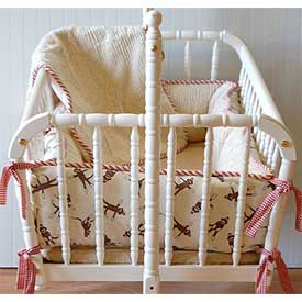 Sock Monkey Cradle Bedding