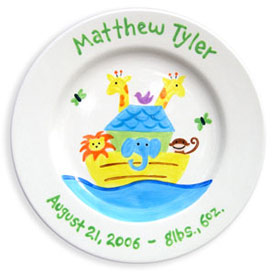 Little Worm And Company Noah's Ark Birth Plate