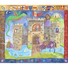 Oopsy Daisy/No Boundaries Knight and Castle Canvas Art