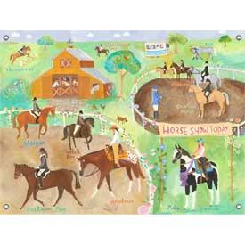 Oopsy Daisy/No Boundaries Horse Show Canvas Art