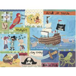 Oopsy Daisy/No Boundaries It's a Pirates Life For Me Stretched Canvas