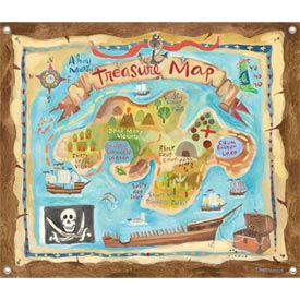 Oopsy Daisy/No Boundaries Treasure Map Canvas Art