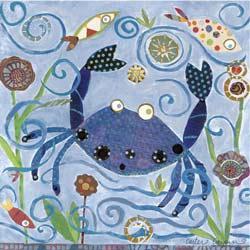 Blue Crab Stretched Art