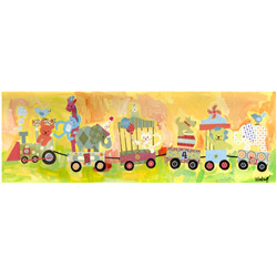 Oopsy Daisy/No Boundaries Circus Train Stretched Art