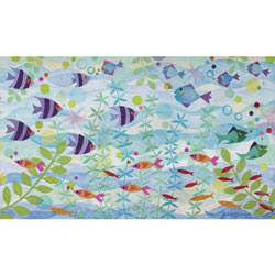 Oopsy Daisy/No Boundaries Friendly Fish Party Stretched Art
