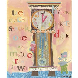 Oopsy Daisy/No Boundaries Hickory Dickory Dock Stretched Art