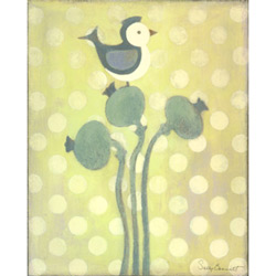 Oopsy Daisy/No Boundaries Love Bird - Green Stretched Art