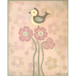 Oopsy Daisy/No Boundaries Love Bird - Pink Stretched Art