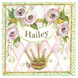 Oopsy Daisy/No Boundaries Personalized Princess Stretched Art
