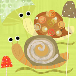 Oopsy Daisy/No Boundaries Swirly Snails Stretched Art