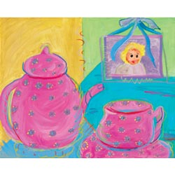 Oopsy Daisy/No Boundaries Tea Party Stretched Art