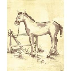 Oopsy Daisy/No Boundaries Toile Horse Canvas Wall Art
