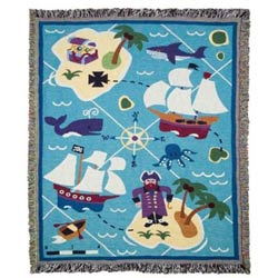 Olive Kids Pirates Woven Throw
