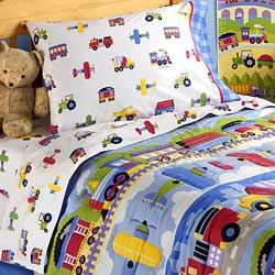 Olive Kids Trains, Planes And Trucks Toddler Bedding