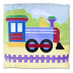 Olive Kids Trains, Planes and Trucks Plush Pillow
