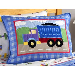 Olive Kids Trains, Planes and Trucks Sham