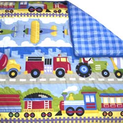 Olive Kids Trains, Planes and Trucks Twin Comforter
