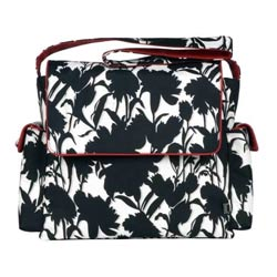 Black and White Floral Messenger Bag