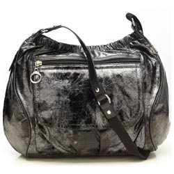 Oi Oi Baby Bags Black Metallic Out & About Diaper Bag