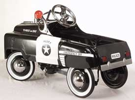American Retro Police Car Kids Pedal Car