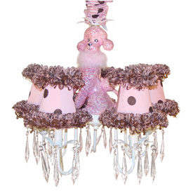 Just Too Cute Fifi Poodle Chandelier