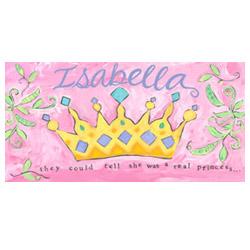 Oopsy Daisy/No Boundaries Princess Crown Canvas Wall Art