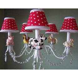 Farm Barnyard Chandelier