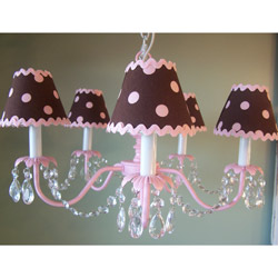 Pink and Brown Chandelier