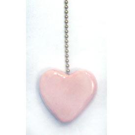 Set of 2 Pink Heart Fan Pulls