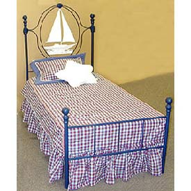 Sailboat Iron Bed