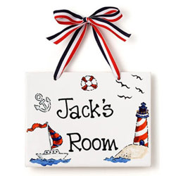 Jamies Painting and Design Sailor Name Plaque