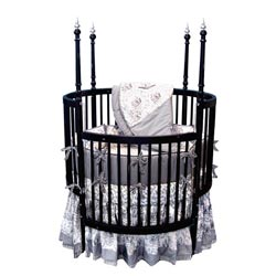 Sophistication Black Round Crib