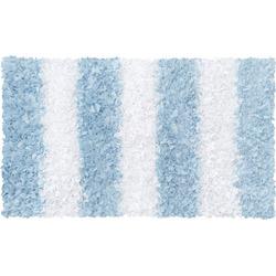 Blue Striped Shaggy Raggy Rug