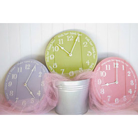 Funky Clock With Saying