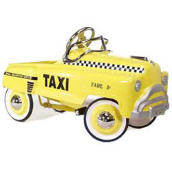 American Retro Sad Face Taxi Kids Pedal Car