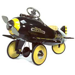 American Retro Yellow Jacket Kids Pedal Airplane