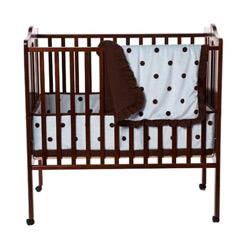 American Baby Company Espresso Dots Porta Crib Bedding Set