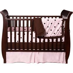 American Baby Company Espresso Dots Crib Bedding Set