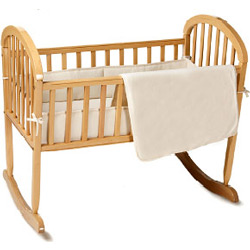 American Baby Company Organic Cotton Velour Cradle Bedding Set