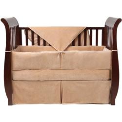 American Baby Company Organic Velour Crib Bedding Set