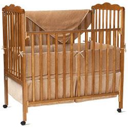 American Baby Company Organic Velour Porta Crib Bedding Set