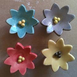 Ceramic Flower Funiture Knob