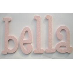Bella's Glitter Wall Letters