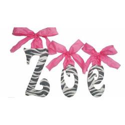Zoe's Zebra Wall Letters