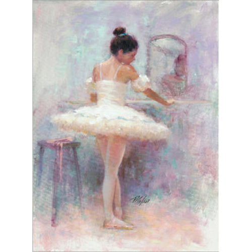 Ballet Reflection Mounted Wall Art w/ Gold Frame - 21 x 27