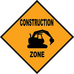 Art4Kids/Creative Images Construction Zone Road Sign Wall Art